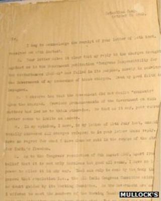 Gandhi letter