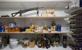 Army gun in larder