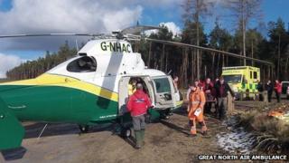 Air ambulance near Helmsley