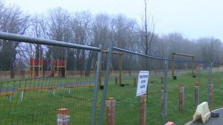 The fenced off playground