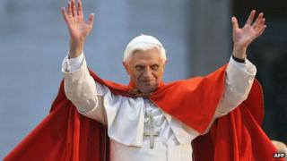 File photo of Pope Benedict XVI (April 2006)