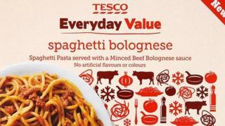Tesco Everyday Value Spaghetti Bolognese