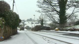 Snow in north Wales