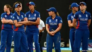 England players look downcast