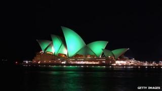 Sydney Opera House gone green