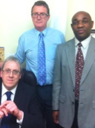 Dr Edgar Coward, Dr Andrew McCaddon, and Dr Clipps Kamutasa