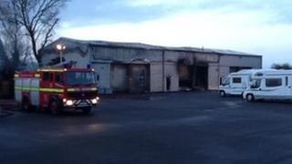 Westcountry Motorhomes fire, Lower Weare