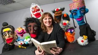 Comedian Nuala McKeever with the Ulster Kama Sutra puppets. Photograph: Neil Harrison