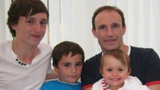 David O'Halloran (left) with his brother Kaya McInnes, father Alan McInnes, and sister Giana McInnes