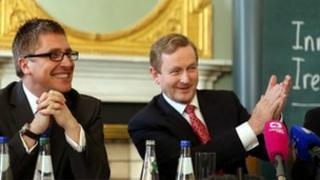 Gary Hagel and An Taoiseach Enda Kenny