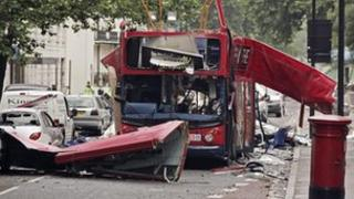 Bus destroyed during 7/7 attacks in London