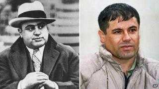 Al Capone and Joaquin Guzman