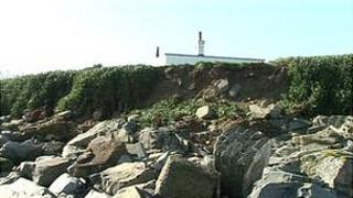 Coastal erosion on Guernsey's west coast