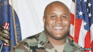 Christopher Dorner in military uniform in 2008