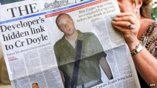 Photographs and details of Ben Zygier made the front pages of Australia's newspapers on 14/2/13