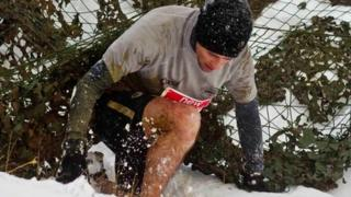 Runner taking part in the 2012 Avalanche Run
