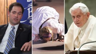 Marco Rubio, a cruise passenger, Pope Benedict XVI