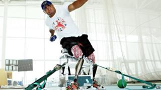 Former soldier and Paralympian Derek Derenalagi