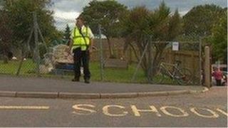 Road markings outside school - generic