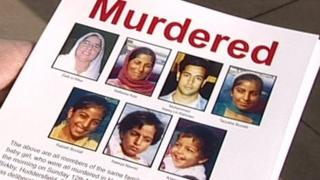 Police handout showing murdered family