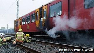 Metro train fire