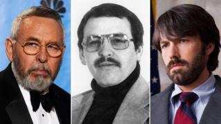 Tony Mendez now and then (left and centre) and played by Ben Affleck