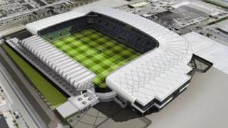 Artist's impression of the redeveloped Windsor Park