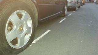 Cars with slashed tyres Swindon