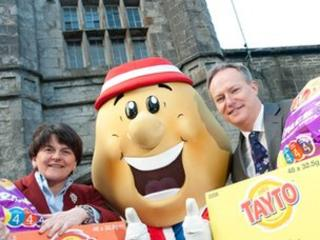 Arlene Foster and Paul Allen
