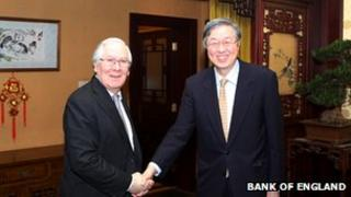 Governor Zhou Xiaochuan and Governor Mervyn King