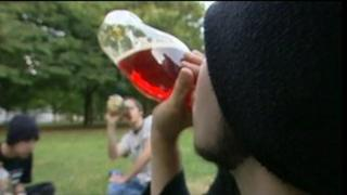 Youths drinking in park
