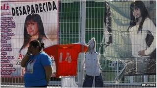 Missing person's banners in Mexico