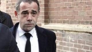 Michael Le Vell arriving at court