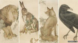 The Lion, The Hare, The Fox and The Raven by Philip Webb