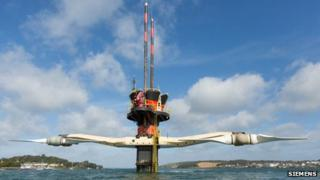 MCT tidal generator in Strangford Lough, County Down