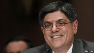 Jack Lew testifies before Congress in Washington DC 13 February 2013