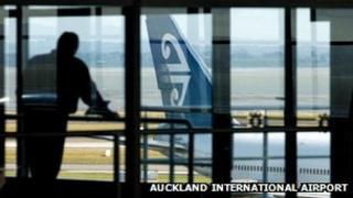 An Air New Zealand plane at Auckland International airport
