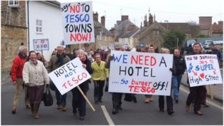 Tesco protest in Sherborne