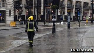 Flood in Regent Street