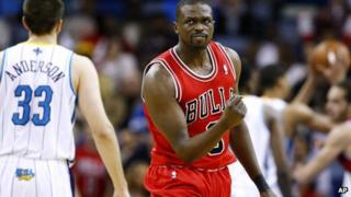 Luol Deng playing for Chicago Bulls