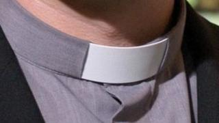 Vicar's clerical collar