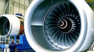A Rolls-Royce Trent engine