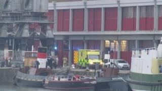 Rescue in progress at Bristol docks