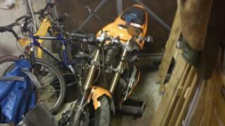 Mr Robert's bike after the accident