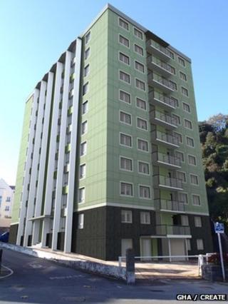Architects' impression of renovated Cour du Parc flats