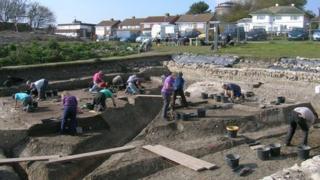 Site of the Roman villa in Folkestone