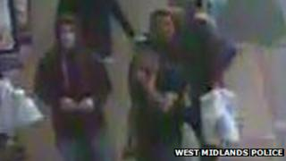 CCTV images of the people police want to speak to