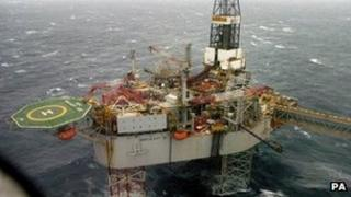 Buzzard oil platform