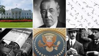 White House, Woodrow Wilson, shorthand, reporters, Oval Office seal, printing press
