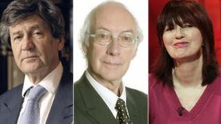 Lord Bragg, Roger McGough and Janet Street-Porter